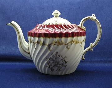 Aynsley #8155 Red Teapot - Large
