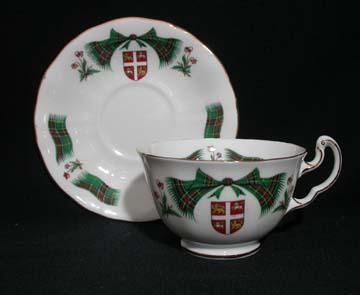 Royal Adderley Newfoundland Tartan Cup & Saucer - Low