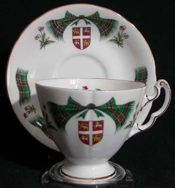 Royal Adderley Newfoundland Tartan Cup & Saucer - Tall