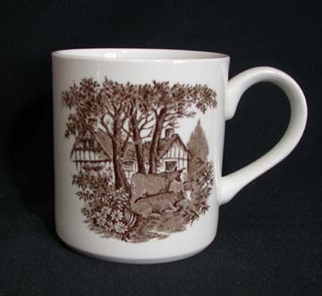J & G Meakin Romantic England - Brown/White Mug