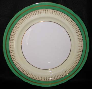 Aynsley #7249 - Green Band Plate - Dinner