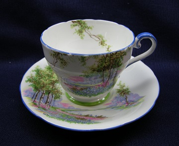 Aynsley Bluebell Time Cup & Saucer