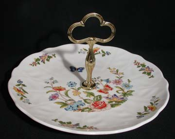 Aynsley Cottage Garden Cake Plate With Handle