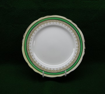 Aynsley Wendover - Green Plate - Bread & Butter
