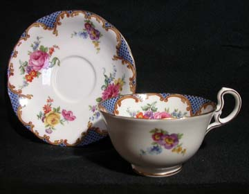 Aynsley Wilton - Blue - B971 Cup & Saucer