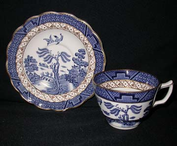 Booths Real Old Willow  A8025 Cup & Saucer