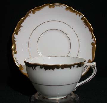 Coalport Admiral - Gold - 9359 Cup & Saucer