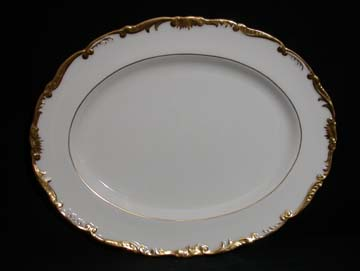 Coalport Admiral - Gold - 9359 Platter