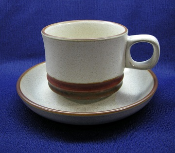 Denby Potters Wheel - Rust Red Cup & Saucer