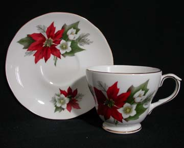 Duchess Poinsettia Cup & Saucer