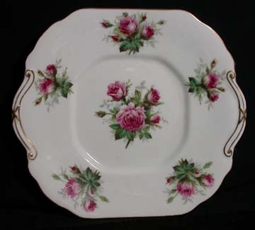 Hammersley Grandmothers Rose Plate - Cake/Handled