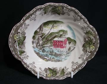 Johnson Brothers The Friendly Village Bowl - Cereal/Soup - Handled - The Old Mill