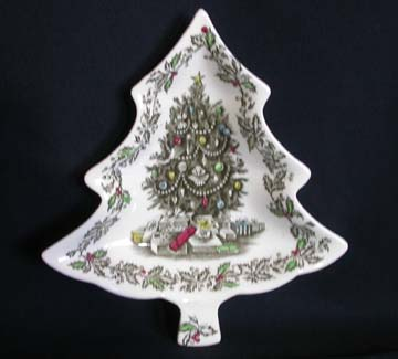 Johnson Brothers Merry Christmas Small Tree Candy Dish