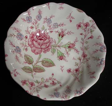 Johnson Brothers Rose Chintz - Pink Bowl - Cereal/Soup