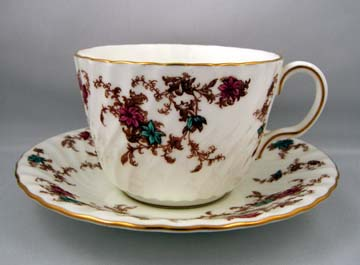 Minton Ancestral S376 Breakfast Cup & Saucer