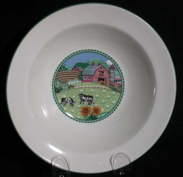 Noritake Country Fences #7920 Bowl - Cereal/Soup