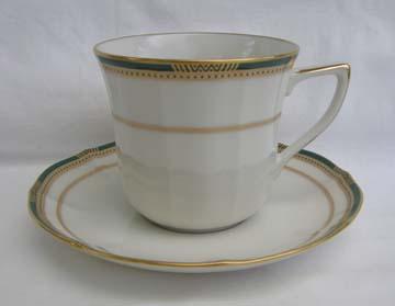 Noritake Gilded Emerald Cup & Saucer