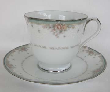 Noritake Greenbrier  4101 Cup & Saucer