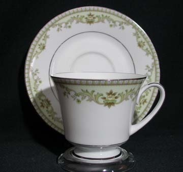 Noritake Raleigh 2487 - Green Cup & Saucer