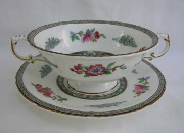 Paragon Tree Of Kashmir Cream Soup & Saucer Set - Footed