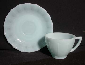 Pyrex - Cremax Delphite Turquoise Cup & Saucer