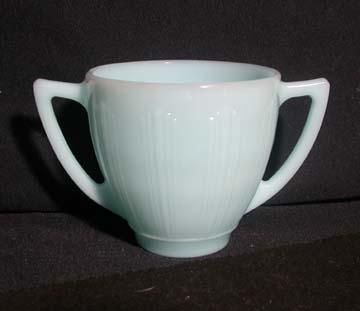 Pyrex - Cremax Delphite Turquoise Sugar Bowl - Large/Open