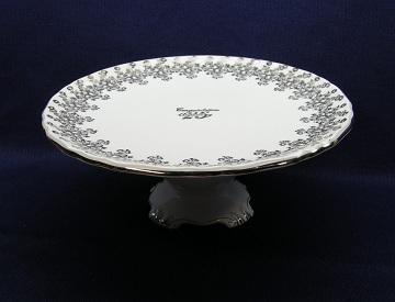 Royal Albert 25th Anniversary Plate - Cake/Pedestal