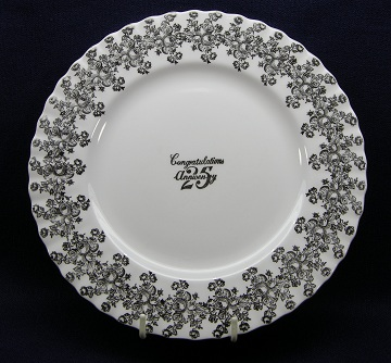 Royal Albert 25th Anniversary Plate - Salad