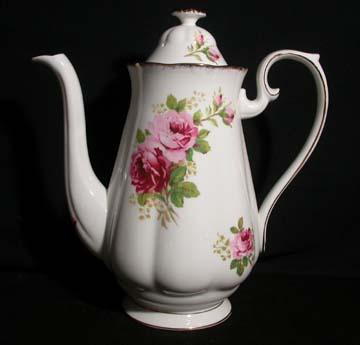 Royal Albert American Beauty Coffee Pot & Lid - Large