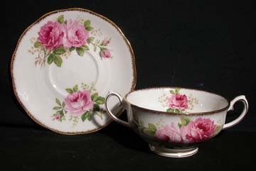 Royal Albert American Beauty Cream Soup & Saucer Set - Footed