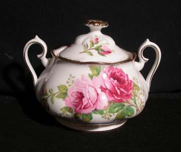 Royal Albert American Beauty Sugar Bowl & Lid