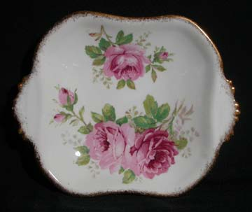 Royal Albert American Beauty Sweet Dish Handled - Large - Solid Handles