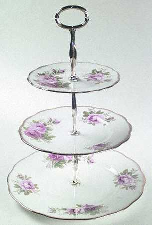 Royal Albert American Beauty Plate - Serving/3 Tiered