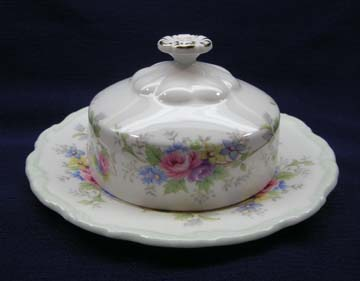 Royal Albert Colleen Butter Dish - Covered - Round Base