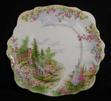 Royal Albert Kentish Rockery Plate - Cake/Handled