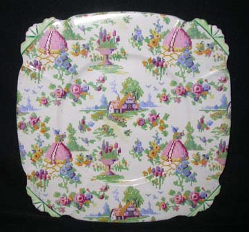 Royal Albert Lady Gay - Green Trim Plate - Luncheon