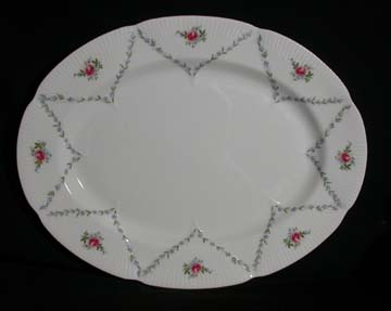 Royal Albert Minuet - Pink & Blue Platter