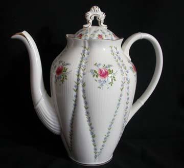 Royal Albert Minuet - Pink & Blue Coffee Pot & Lid - Large