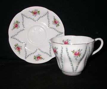 Royal Albert Minuet - Pink & Blue Cup & Saucer