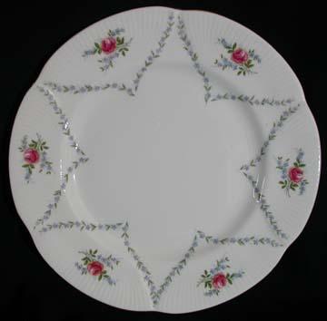 Royal Albert Minuet - Pink & Blue Plate - Dinner