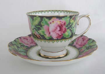 Royal Albert Needle Point Cup & Saucer