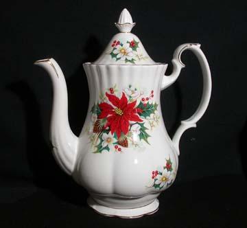 Royal Albert Poinsettia Coffee Pot & Lid - Large