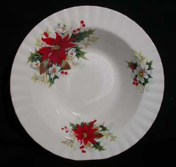 Royal Albert Poinsettia Bowl - Soup/Rim