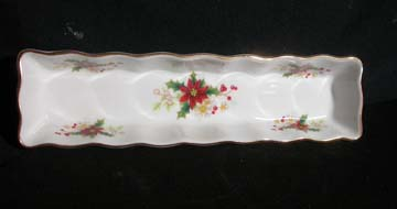 Royal Albert Poinsettia Celery Tray