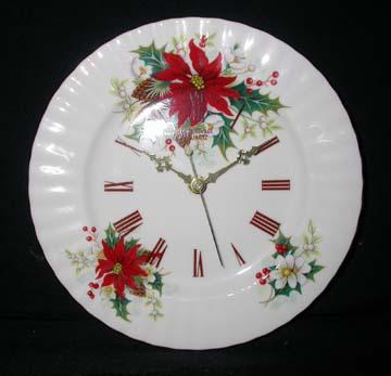 Royal Albert Poinsettia Clock