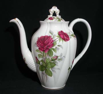 Royal Albert Royal Canadian Rose Coffee Pot & Lid - Large