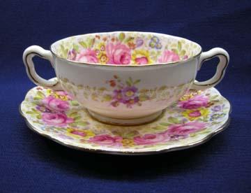 Royal Albert Serena Cream Soup & Saucer Set - Footed