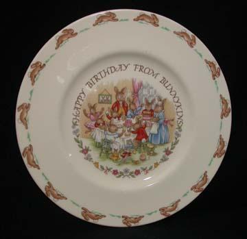 Royal Doulton Bunnykins 19 - Plate - Happy Birthday Bunnykins