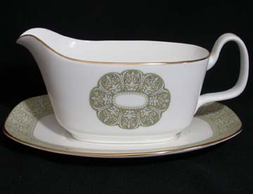 Royal Doulton Sonnet H5012 Gravy Boat & Underplate