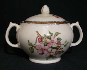 Royal Swan Blossomtime Sugar Bowl & Lid